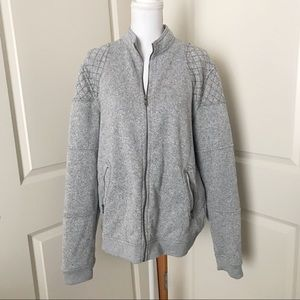 ROCK & REPUBLIC Zip Up Sweater Quilted Jacket XL
